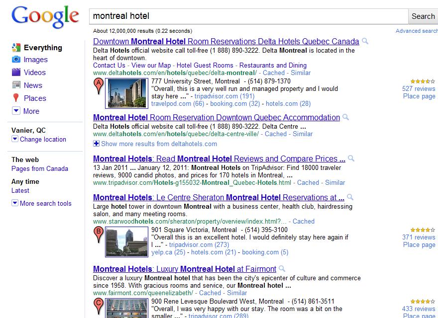 impacts de l utilisation par google des avis des internautes pour les h tels et restaurants et. Black Bedroom Furniture Sets. Home Design Ideas